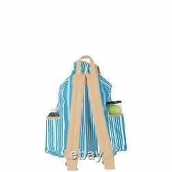 Ame & Lulu Kingsley Ticking Stripe Backpack Racquet Bag Auth Dealer with Warranty