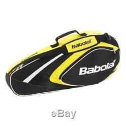 BABOLAT Club Line 3 Racquet Bag, Black/Yellow, One Size