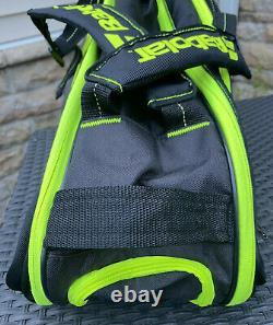 Babolat Pure 6 Tennis Racquet Bag Backpack Case Black/Neon Yellow EXCELLENT