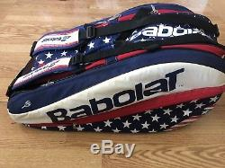 Babolat Pure Aero Stars and Stripes 12 Pack Tennis Racket Bag Red White Blue