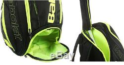 Babolat Pure Aero Tennis Backpack Bag Yellow Black Racket Racquet NWT 753047