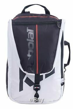 Babolat Pure Strike 3 Racquet Backpack (White/Black/Red) Authorized Dealer