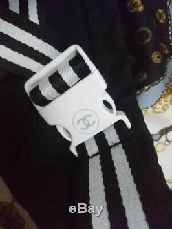 CHANEL LE ROUGE Novelty Waist Bag Pouch Tennis Racket Coco Mark Black x White