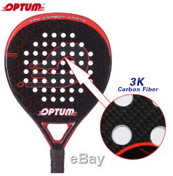 Carbon Fiber Pro Tennis Padel Racket with Bag Cover Rackets for adults & lids