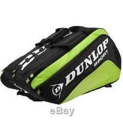 Dunlop Biomimetic Tour 10 Racquet Thermo Rackets Bag Black Green R281