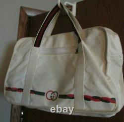 GUCCI Authentic Vintage Tennis Bag withRacket Sleeve & Large Separate Section