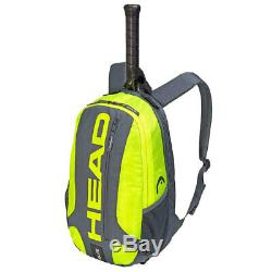 Head Elite Tennis 3R Pro Carry Sports Bag with Backpack f/ Racquet/Racket GY/NYL