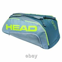 Head Tour Team Extreme Supercombi 9 Pack Tennis Racquet Bag (YellowithGrey)
