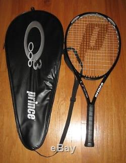Prince O3 Silver Oversize Tennis Racquet Grip Size 4 Strung New With Bag