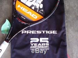 RARE/NEWith HEAD 25 ANNIVERSARY PRESTIGE TENNIS RACQUET 43/8 WithANNIVERSARY BAG