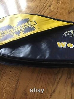 University of Michigan Wolverines Tennis Racket Bag Carrier Officially Licensed