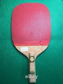 VINTAGE NITTAKU Table Tennis Racket/Paddle Japanese Penhold YASAKA Original Bag