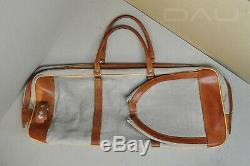 Vintage 70-80s Old School HQ partly leather tennis racket bag/case Excellent