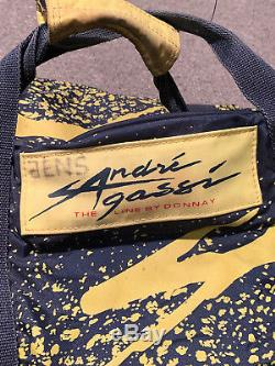 Vintage Andre Agassi Donnay Tennis Travel Bag The Line By rare tour racquet bag