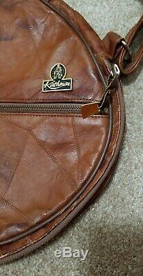 Vintage Kathmar Leather Tennis or Racketball Racket Case with Branded Zipper