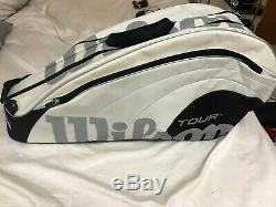 White Wilson Pro Tour Thermo & Moisture Guard Tennis Racquets/ Rackets Bag