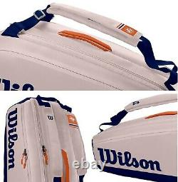 Wilson Roland Garros Backpack Tennis Racket Bag WR8012601001 Thermo Guard 9Pack