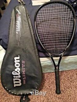 Wilson Sledge Hammer 3.4 THE LIMITS 135 SQ. IN. 4 1/8 grip Tennis Racket with bag