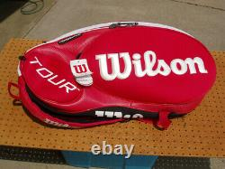Wilson Tour 2.0 Thermoguard Red 9 Pack Tennis Racket Racquet Bag Brand New