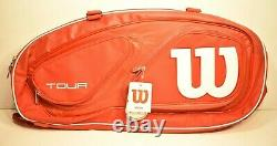Wilson Tour 6 Racquet Tennis Bag with Thermoguard Compartment and Shoulder Straps