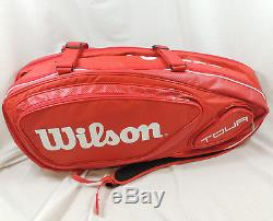 Wilson Tour V 9 Pack Tennis Racket Bag Red WRZ847609 New With Tags