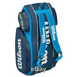 Wilson Tour V 9Pack BL Backpack Tennis Racket Bag WRZ843609 Thermo Guard Blue