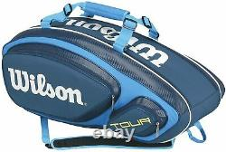 Wilson Tour V Collection Racket Bag (holds 9), Blue From Japan