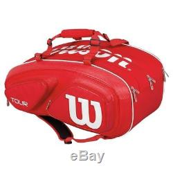 Wilson Tour V Tennis Red 15 Pack Racquet Racket Bag WRZ-867615