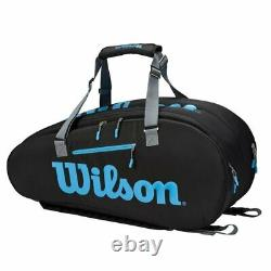 Wilson Ultra 9 Pack Racquet Bag (Black/Blue/Silver) Auth Dealer with Warrranty