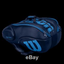 Wilson Vancouver Ultra Tennis Racket Bag/Backpack 15Pack Blue WRZ843715 Tour
