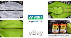 YONEX 2018 Gold Badminton Tennis Squash 3 Packs Racquet Bag Backpack BAG9829EX