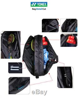 YONEX Tennis Badminton Tournament Bag Rucksack Black Racket Racquet 89BT004U
