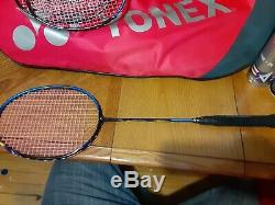 Yonex Badminton Racquet Lot Of 7 + 1 Victory Racquet With Bag And Shuttlecocks